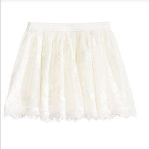 Ivory white lace shirt
